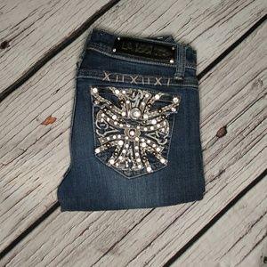 🔥LA Idol Embellished Bootcut Jeans Size 3🔥